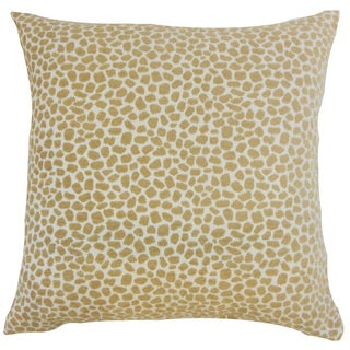 Badr Geometric 18 inch Down and Feather Filled Throw Pillow