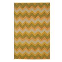 Williamsburg Irish Stitch Rectangle Flat Woven Rug (7'x 9'6)