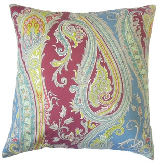 Efharis Paisley 18 inch Down and Feather Filled Throw Pillow