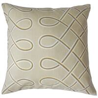 Deance Geometric 18 inch Down and Feather Filled Throw Pillow