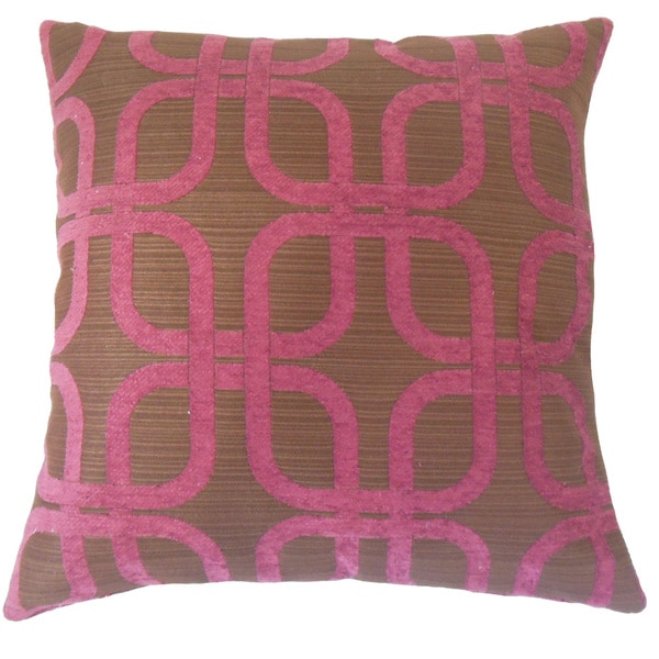 Bertille Geometric 18 inch Down and Feather Filled Throw Pillow