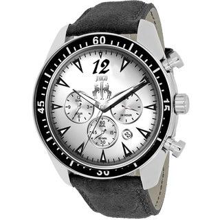 Jivago Men's JV4510 Timeless Round Black Leather Strap Watch