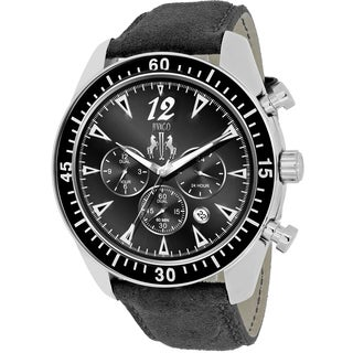 Jivago Men's JV4511 Timeless Round Black Leather Strap Watch