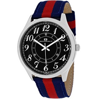 Oceanaut Men's OC7914 Classic Round Two-tone Nylon Strap Watch