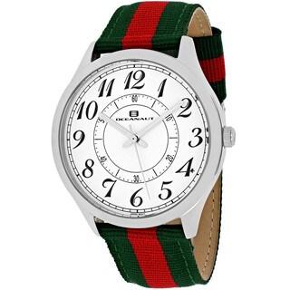 Oceanaut Men's Classic Round Two-tone Nylon Strap Watch