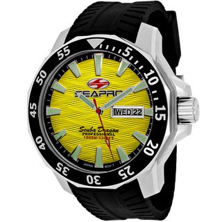 Seapro Men's SP8313 Scuba Limited Edition Round Black Silicone Strap Watch