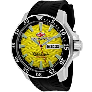 Seapro Men's SP8313 Scuba Limited Edition Round Black Silicone Strap Watch|https://ak1.ostkcdn.com/images/products/11068652/P18078208.jpg?impolicy=medium
