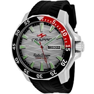 Seapro Men's SP8312 Scuba Limited Edition Round Black Silicone Strap Watch
