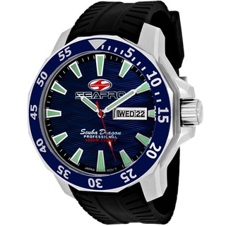 Seapro Men's SP8311 Scuba Limited Edition Round Black Silicone Strap Watch