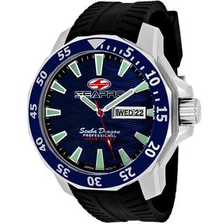 Seapro Men's SP8311 Scuba Limited Edition Round Black Silicone Strap Watch