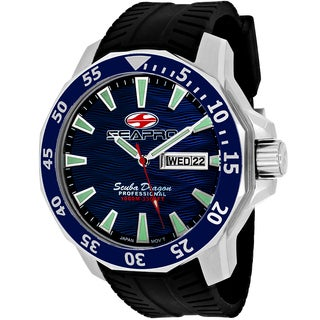 Seapro Men's Scuba Limited Edition Round Black Silicone Strap Watch
