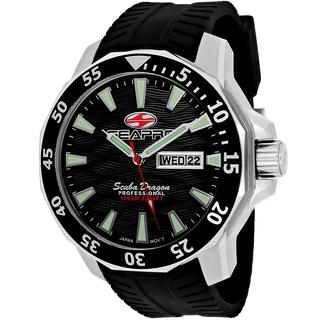 Seapro Men's SP8310 Scuba Dragon Limited Edition Round Black Silicone Strap Watch