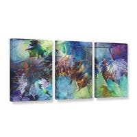 ArtWall Trish Mckinney's Reverence, 3 Piece Gallery Wrapped Canvas Set