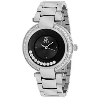 Jivago Women's JV1611 Celebrate Round Silvertone Stainless Steel Bracelet Watch