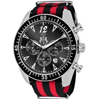 Jivago Men's JV4511NR Timeless Round Two-tone Nylon Strap Watch