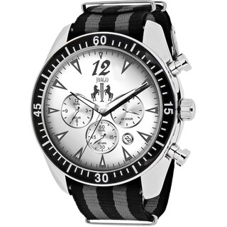 Jivago Men's JV4510NBK Timeless Round Two-tone Nylon Strap Watch