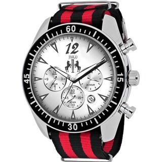 Jivago Men's JV4510NR Timeless Round Two-tone Nylon Strap Watch