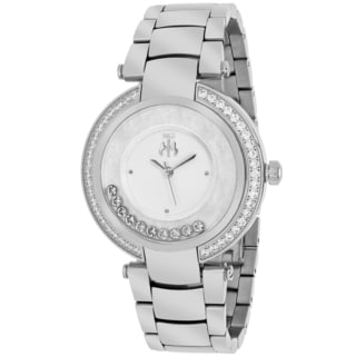 Jivago Women's JV1610 Celebrate Round Silvertone Stainless Steel Bracelet Watch