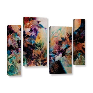 ArtWall Trish Mckinney's Beckoning, 4 Piece Gallery Wrapped Canvas Staggered Set