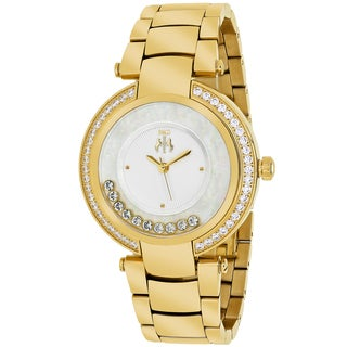 Jivago Women's JV1612 Celebrate Round Goldtone Stainless Steel Bracelet Watch