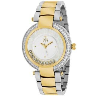 Jivago Women's JV1613 Celebrate Round Two-tone Stainless Steel Bracelet Watch