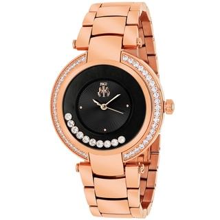 Jivago Women's JV1615 Celebrate Round Rose Gold Stainless Steel Bracelet Watch