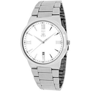 Jivago Men's JV3510 Clarity Round Silvertone Stainless Steel Bracelet Watch