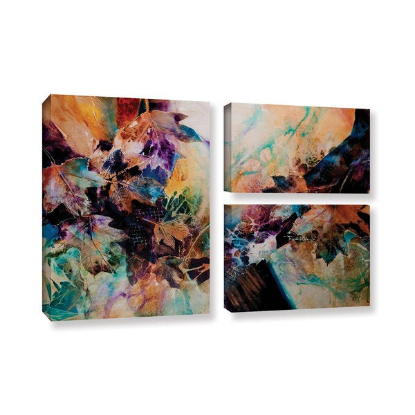 ArtWall Trish Mckinney's Beckoning, 3 Piece Gallery Wrapped Canvas Flag Set