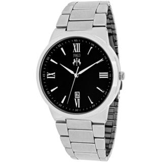 Jivago Men's JV3511 Clarity Round Silvertone Stainless Steel Bracelet Watch
