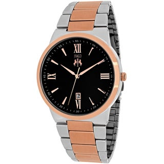 Jivago Men's JV3515 Clarity Round Two-tone Stainless Steel Bracelet Watch