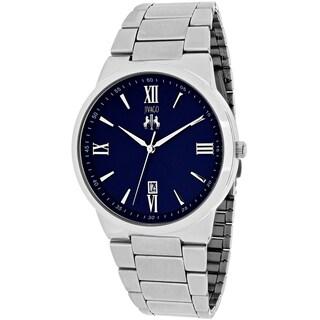 Jivago Men's JV3517 Clarity Round Silvertone Stainless Steel Bracelet Watch