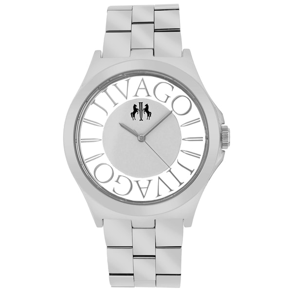 Jivago Women's JV8410 Fun Round Silvertone Stainless Steel Bracelet Watch - Silver