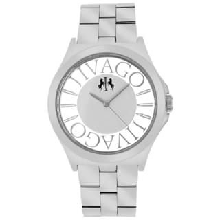 Jivago Women's JV8410 Fun Round Silvertone Stainless Steel Bracelet Watch