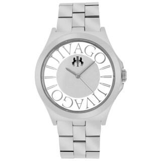 Jivago Women's JV8410 Fun Round Silvertone Stainless Steel Bracelet Watch