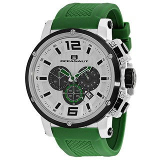 Oceanaut Men's OC2143 Spider Round Green Silicone Strap Watch