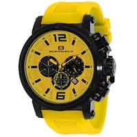 Oceanaut Men's  Spider Round Yellow Silicone Strap Watch