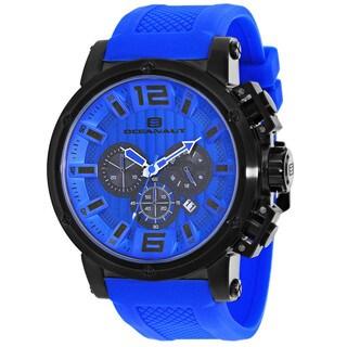 Oceanaut Men's OC2141 Spider Round Blue Silicone Strap Watch