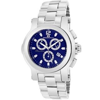 Oceanaut Men's OC0729 Baccara Round Silvertone Stainless Steel Bracelet Watch