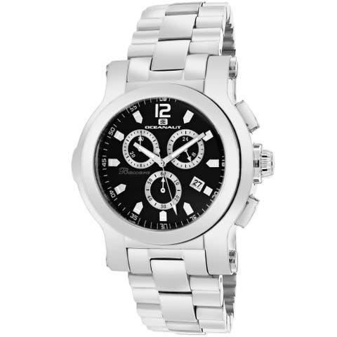 Oceanaut Men's Baccara Round Silvertone Stainless Steel Bracelet Watch