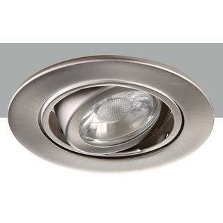 Elegant Lighting Elitco 3-Inch Brushed Nickel 35-Degree Adjustable Spotlight