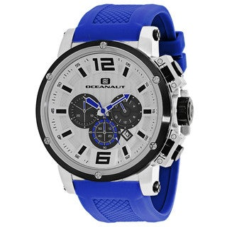 Oceanaut Men's OC2144 Spider Round Blue Silicone Strap Watch