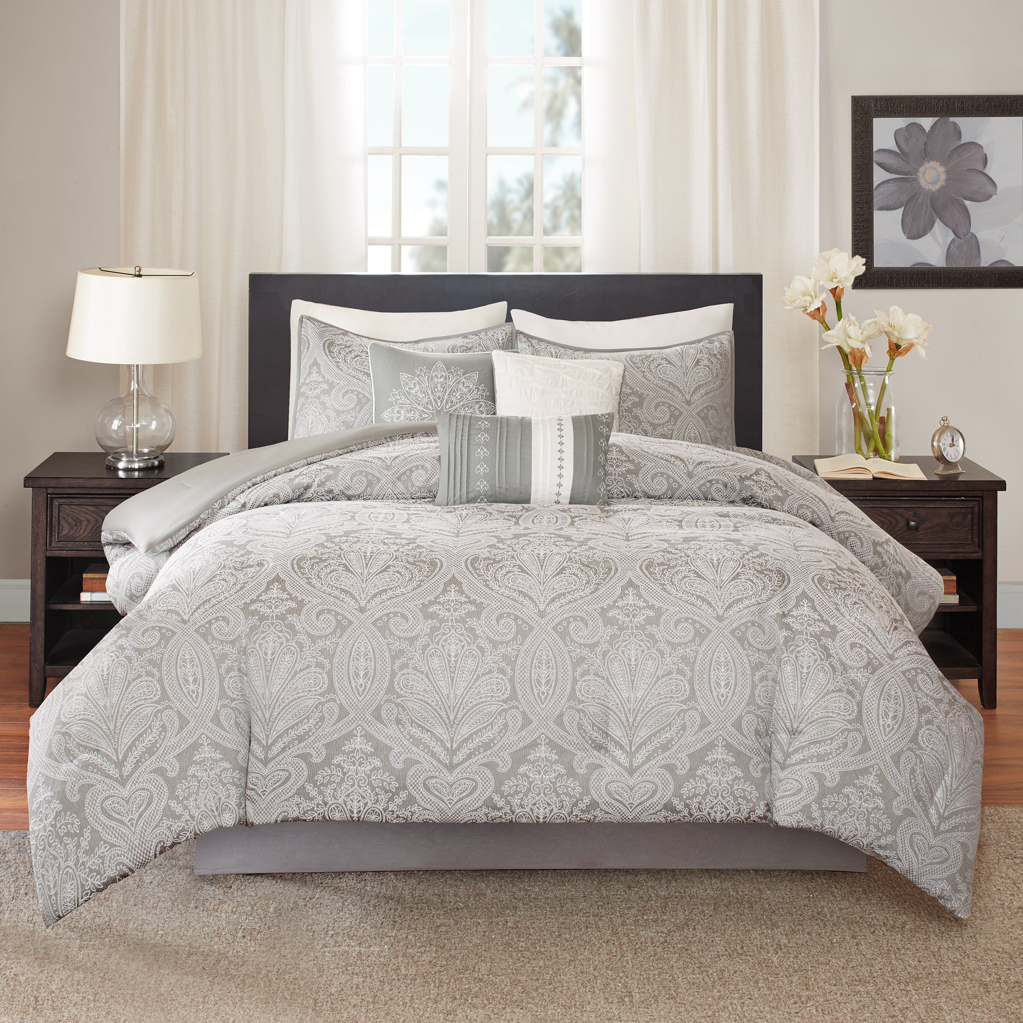 overstock shipping cotton bath comforter on bed scene ceres bedding green free com product set city