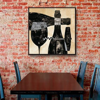 ArtWall Daphne Brissonnet's Wine Selection 1, Gallery Wrapped Floater-framed Canvas