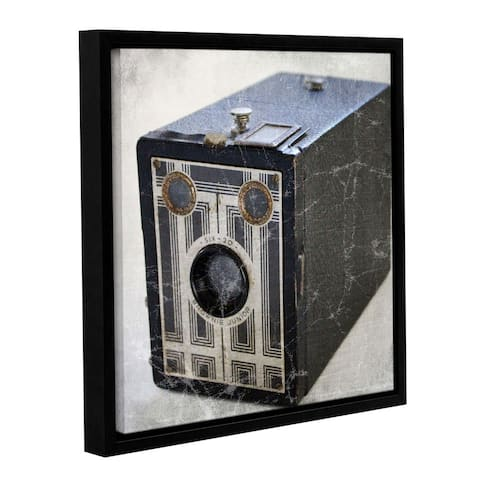 ArtWall Linda Woods's Brownie Junior II, Gallery Wrapped Floater-framed Canvas