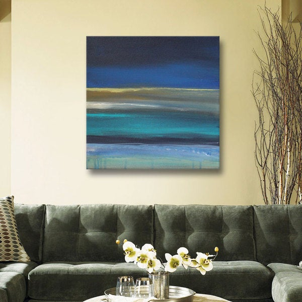 ArtWall Linda Woods's Beach I, Gallery Wrapped Canvas
