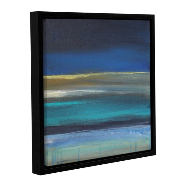 ArtWall Linda Woods's Beach I, Gallery Wrapped Floater-framed Canvas