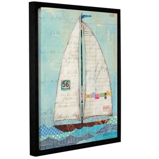 ArtWall Courtney Prahl's Regatta III, Gallery Wrapped Floater-framed Canvas