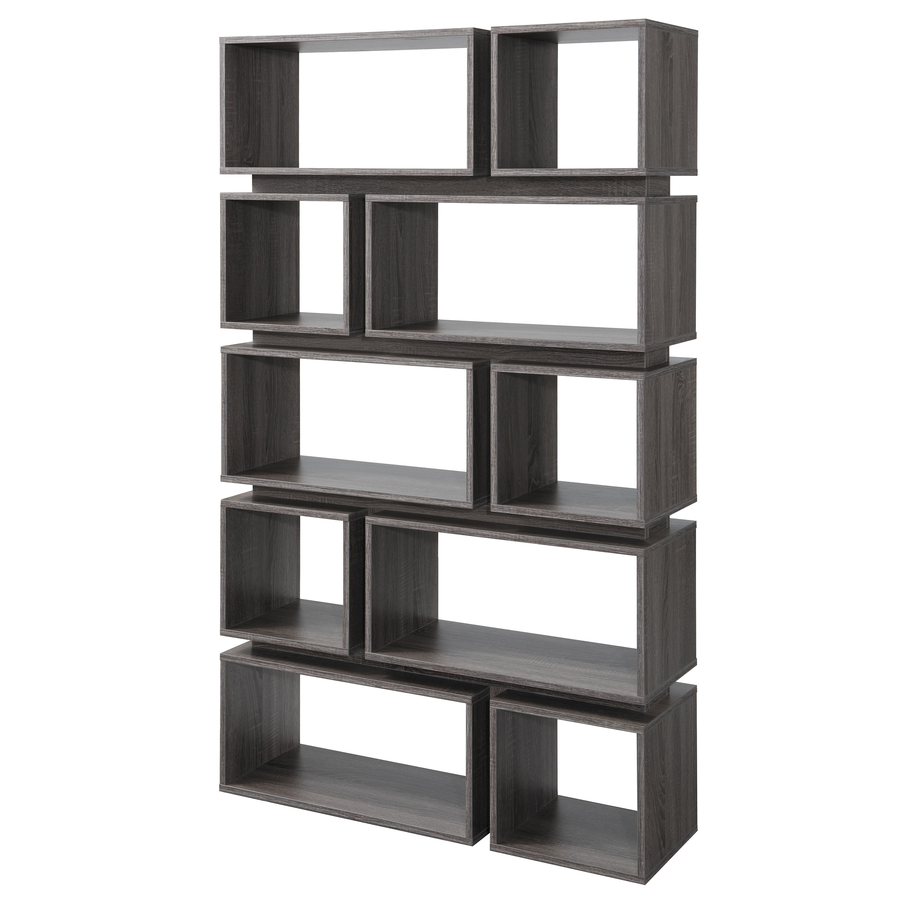 Tiered bookcase best home design 2018 for Furniture of america cassidy