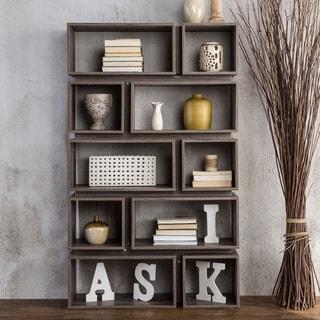Link to Furniture of America Niti Rustic Grey 10-shelf Open Bookcase Similar Items in Office Storage & Organization