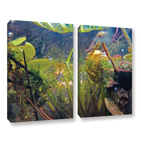 ArtWall Ed Shrider's Lake Hope UW #6, 2 Piece Gallery Wrapped Canvas Set
